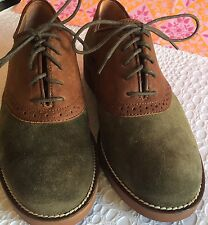 Women's Shoes Olive Green and Brown Leather Upper Size 6.5