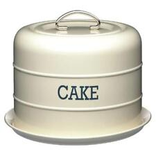 Retro Vintage Living Nostalgia Kitchen Craft Airtight Domed Cake Tin Cream New