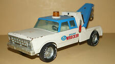 Vintage 1960s NYLINT Wrecker 24 hr Service Tin Toy Tow Truck Made in USA -NICE