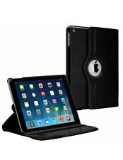 Plain leather 360 degrees rotating iPad mini 3 2 1 case cover protector & stylus