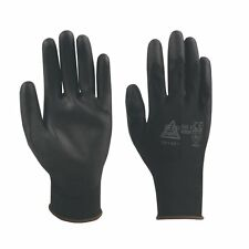 100 Pairs Black PU Precise Palm Coated Safety Work Gloves Size 11/XXL