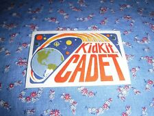 Vintage Iron On Weekly Reader Patch Kidkit Cadet  2 1/4 x 3 1/2 Inches