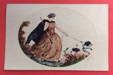 CPA. Illustrateur J. HARDY. Jeune Femme Chasseur et son Chien. Fusil. Chasse.