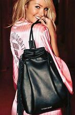 VICTORIA'S SECRET 2015 Fashion Show Backstage Bag Black Faux Leather Fringe NWT