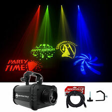 American DJ ADJ GOBO PROJECTOR IR LED Light w/ 4 Colors/Patterns+DMX Cable+Clamp