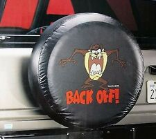 "Universal Black TAZ BACK OFF Spare Tire Cover Wheel 27"" - 31"" New Free Shipping"