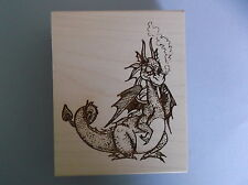 CREATIVE IMAGES RUBBER STAMPS CISTAMPS FIRE BREATHING DRAGON NEW STAMP