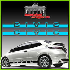 Honda CIVIC FK1 FK2 FN FD 2 Side stickers Side stripe Sticker Type R