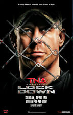 Official TNA Impact Wrestling 38 x 24 inch Lockdown 2011 PPV Poster
