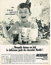 PUBLICITE ADVERTISING   1965    NESQUICK    petit déjeuner chocolaté