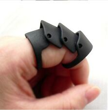 Fashion New Punk Rock Gothic Vintage Wind Black Joint Hinged Knuckle Armor Rings