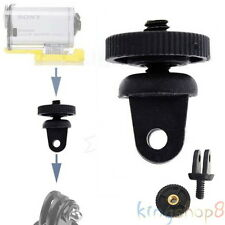 """Tripod Mount Adapter For Sony Action Cam Camera- GoPro Mount To 1/4"""" Thread Hot"""