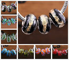 10pcs Round Lampwork Glass Murano Big Hole Beads Findings Fit European Blacelet