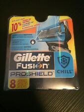 Gillette Fusion Proshield Chill 8 Replacement Cartridges Razor Blades Authentic
