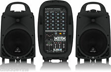 Behringer PPA500BT Europort Ultra Compact 500 Watt 6 Channel PA System Bluetooth