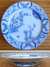 Plat présentoir en porcelaine de CREIL MONTEREAU décor Chine