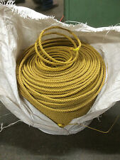 """DEFECTIVE - 7.0mm (1/4"""") Gold Rope, 3 Strand, 1300' Coil - Lariat Rope (Polyprop"""
