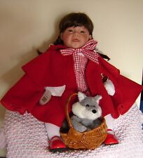 """Lee Middleton Little Red Riding Hood 22"""" doll with wolf and basket. New in box."""