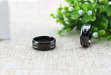 1pc Hot Size 9 Black Stainless Steel Ring Band Batman Punk Jewelry Cool