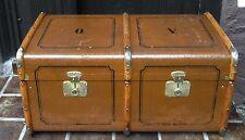 Shabby chic - Antiker großer Überseekoffer Sofatisch Deko Oldtimer Koffer ~1900