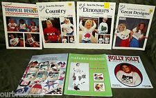 Lot of 7 IRON-ON TRANSFER BOOKLETS - Listed & Pictured