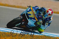 Dominique Aegerter Hand Signed Interwetten Kalex 12x8 Photo 2015 Moto2 1.