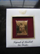 Tris Speaker Baseball 2000 replica 22 kt Gold Stamp FDI FDC Golden Cover