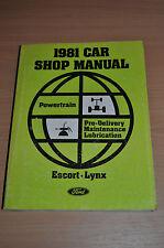 Werkstatthandbuch Ford 1981 Escort Lynx Powertrain Pre Delivery Maintenance
