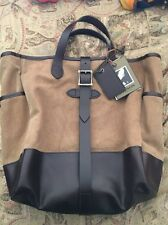 Authentic Tan Filson Rugged Canvas Leather Bag NEW With Tags! 70430 Retail $395