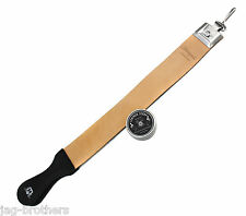 Professional Barber Genuine Leather Strop for Sharpening with Paste 10ml
