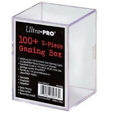 Ultra Pro 100+ Card 2 Piece Gaming Box Slide Box Holds Cards In Deck Protectors