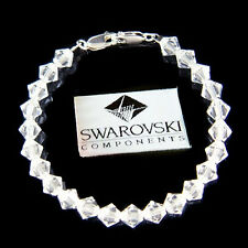 w Swarovski Crystal Simple ~Clear Medical ID Alert Silver Bracelet REPLACEMENT