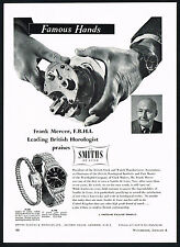 1950's Vintage Smiths De Luxe Wrist Watch Frank Mercer Horologist Photo Print AD