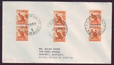 "NSW TPO POSTMARK ""T.P.O.2 NTH COAST DOWN"" TRIPLE CANCEL ON COVER TO USA (PS4918)"