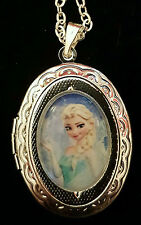 FROZEN Elsa Princess Disney Silver Children's Locket and Necklace