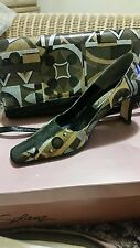 J Renee Multi-colored Pumps matching Clutch/ Handbag Shoes Size 8.5M PRICE DROP!