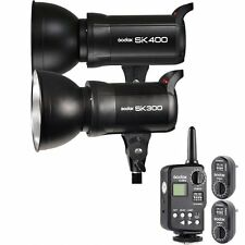 Godox SK300 300W + SK400 400W Photography Studio Flash Lighting with Trigger Kit