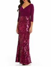 Adrianna Papell Evening Gown 8 LACE ILLUSION SEQUIN SPRING MOTHER BRIDE NWT NEW