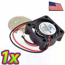 [1x] DC 5-12V 80mA 25x25x10mm (1x1x0.5in) 2507 Brushless Cooling Fan 2Pin 12Krpm
