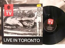 PSYCHIC TV - LIVE IN TORONTO LP VG+/EX 1st UK TEMPLE RECORDS 1987 TOPY 028
