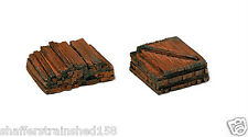 Model RailStuff # 150 Material Piles Stacked Railroad Ties HO Scale MIB