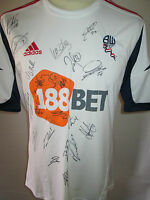 Bolton 2012-2013 Squad Signed Player Issue Football Shirt with Bolton COA /31976