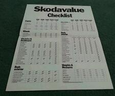 1975 1976 SKODA VALUE CHECKLIST S100 S100L S110L S110LS +S110R COUPE UK BROCHURE