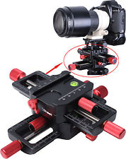 4-way Macro Focusing Rail Slider Close-up Shooting Camera Holder for Tripod Head
