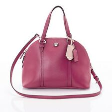 NWT Coach Peyton Cora Leather Domed Satchel Bag 25671