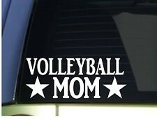 Volleyball Mom sticker *H314* 8.5 inch wide vinyl serve spike beach shorts