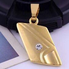 Gold Filled White Gems Pendant On Chain Fancy Stunning Unisex AUS SELLER