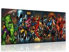"SINGLE CANVAS PICTURE WALL ART MARVEL AVENGERS  8"" X 16""  NEW !!"