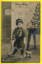 cpa POSTKARTE Cachets GAND BRUXELLES 1907 BONNE ANNÉE Sapin de NOËL JOUETS TOYS