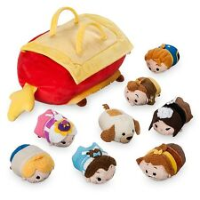 IN HAND Disney Beauty & The Beast Tsum Tsum Dog Foot Rest Human Bag Set OF 8 NWT